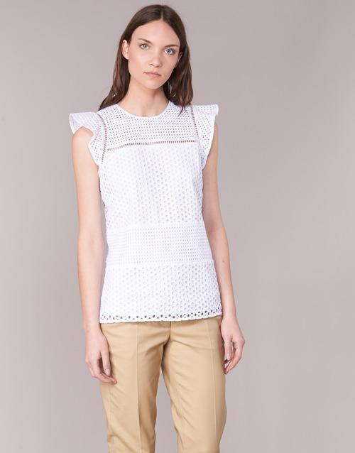 textil Dam Blusar MICHAEL Michael Kors COMBO EYELET S/S Vit