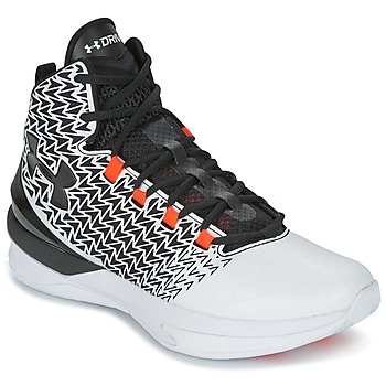 Skor Herr Basketskor Under Armour UA ClutchFit Drive 3 Vit / Svart / Orange