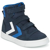 Skor Barn Höga sneakers Hummel STADIL CANVAS HIGH JR Marin