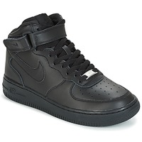 Skor Pojk Höga sneakers Nike AIR FORCE 1 MID 06 JUNIOR Svart