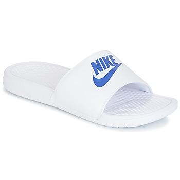 Skor Herr Flipflops Nike BENASSI JUST DO IT Vit / Blå