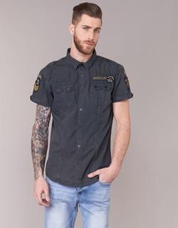 textil Herr Kortärmade skjortor Deeluxe BURTY Grå