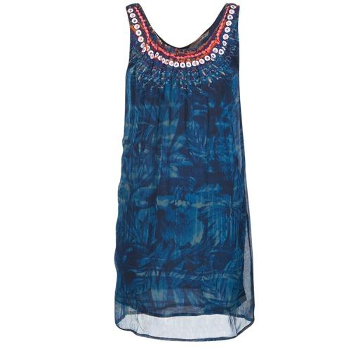 textil Dam Korta klänningar Desigual LIORISE Blå