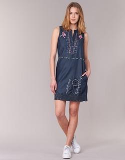 textil Dam Korta klänningar Desigual LIORASE Blå