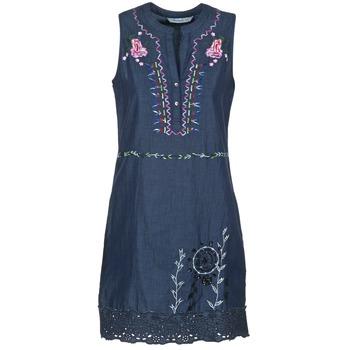 textil Dam Korta klänningar Desigual LIRASE Blå