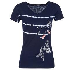 textil Dam T-shirts Desigual TIDEREA Marin