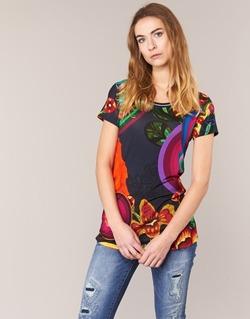 textil Dam T-shirts Desigual GRIZELLO Flerfärgad