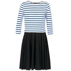 textil Dam Korta klänningar Petit Bateau FINALLY Vit / Blå