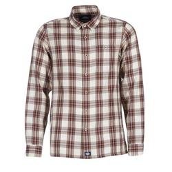 textil Herr Långärmade skjortor Dickies HARRELL Vit / Brun