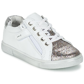 Skor Pojk Sneakers Babybotte KRAZY Vit / Silver