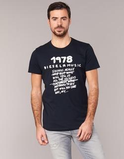 textil Herr T-shirts Diesel T DIEGO NB Svart