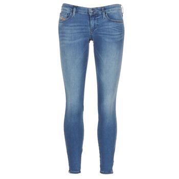 textil Dam Skinny Jeans Diesel SKINZEE LOW ZIP Blå / 0681P