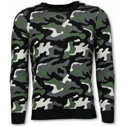 textil Herr Sweatshirts Justing MilitaryCamouflage Pullover PG Grön