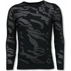 textil Herr Tröjor Justing D Camouflage Neon Pullover Tjock PW Svart