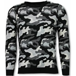 textil Herr Sweatshirts Justing MilitaryCamouflage Pullover PGR Svart
