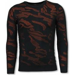 textil Sweatshirts Justing D Camouflage Neon Pullover Tjock PO Svart