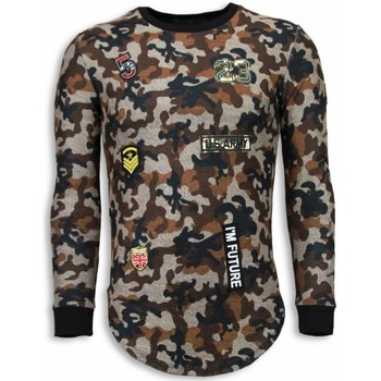 textil Herr Sweatshirts Justing Th US Army Camouflage Long Fit Brun