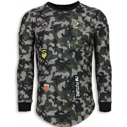 textil Herr Sweatshirts Justing Th US Army Camouflage Long Fit Grön