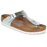 Skor Dam Flip-flops Birkenstock GIZEH Silver