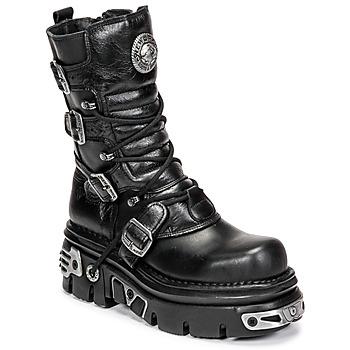 Skor Dam Boots New Rock NEMESIS Svart