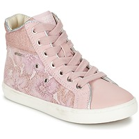 Skor Flick Höga sneakers Geox J KIWI G. H Rosa