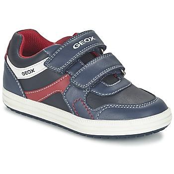 Skor Pojk Sneakers Geox J VITA A Marin / Röd