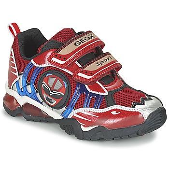 Skor Pojk Sneakers Geox J SHUTTLE B. B Röd
