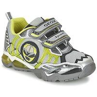 Skor Pojk Sneakers Geox J SHUTTLE B. B Grå / Citrongul