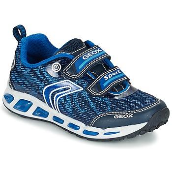 Skor Pojk Sneakers Geox J SHUTTLE B.A Marin