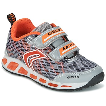 Skor Pojk Sneakers Geox J SHUTTLE B.A Grå / Orange