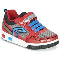 Skor Pojk Sneakers Geox J GREGG B Röd / Blå