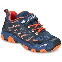 Skor Pojk Sneakers Geox J MAGNETAR B. A Marin / Orange