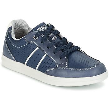 Skor Pojk Sneakers Geox J ANTHOR B. B Marin / Vit
