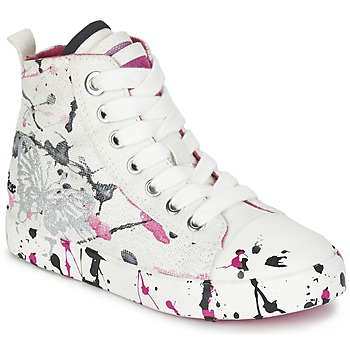 Skor Flick Höga sneakers Geox J CIAK G. C Vit / Rosa