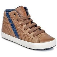 Skor Pojk Höga sneakers Geox J ALONISSO B. B Cognac