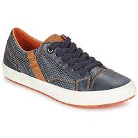 Skor Pojk Sneakers Geox J ALONISSO B. A Marin / Brun