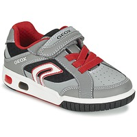 Skor Pojk Sneakers Geox J GREGG A Grå / Röd