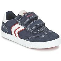 Skor Pojk Sneakers Geox J KIWI B. M Marin / Röd