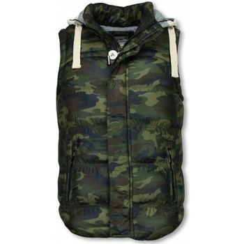 textil Herr Koftor / Cardigans / Västar Enos Camouflage Body Warmer S Grön