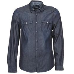 textil Herr Långärmade skjortor Energie VETTEL Blå
