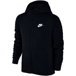 textil Barn Sweatshirts Nike SW Hoodie FZ Club Junior 805499-010 Black