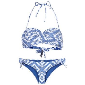textil Dam Bikini Rip Curl DEL SOL BANDEAU SET Blå / Vit
