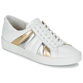Skor Dam Sneakers MICHAEL Michael Kors CONRAD SNEAKER Vit / Guldfärgad / Silverfärgad
