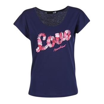 textil Dam T-shirts Love Moschino W4G4127 Blå