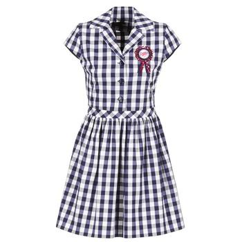 textil Dam Korta klänningar Love Moschino WVF3001 Blå / Vit