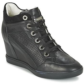 Skor Dam Höga sneakers Geox ELENI C Svart