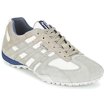 Skor Herr Sneakers Geox SNAKE Grå / Vit