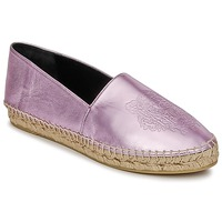 Skor Dam Espadriller Kenzo TIGER METALIC SYNTHETIC LEATHER Rosa