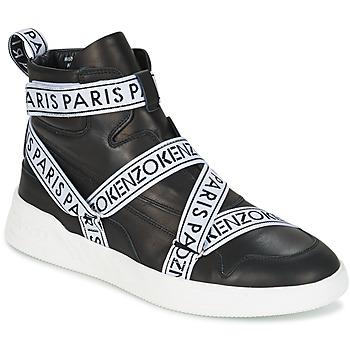 Skor Herr Höga sneakers Kenzo CALVIN Svart