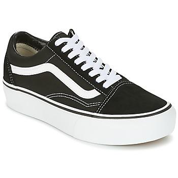 Skor Dam Sneakers Vans UA OLD SKOOL PLATFOR Svart / Vit